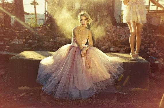 Pantone Color of the Year Blush Wedding Dress Rose Quartz Tafetta Gown Glamourous Wedding Photography