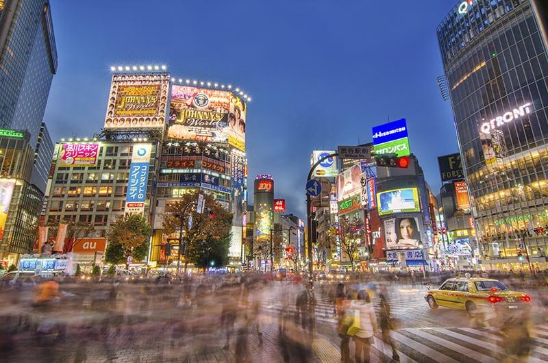 Shibuya in Blue