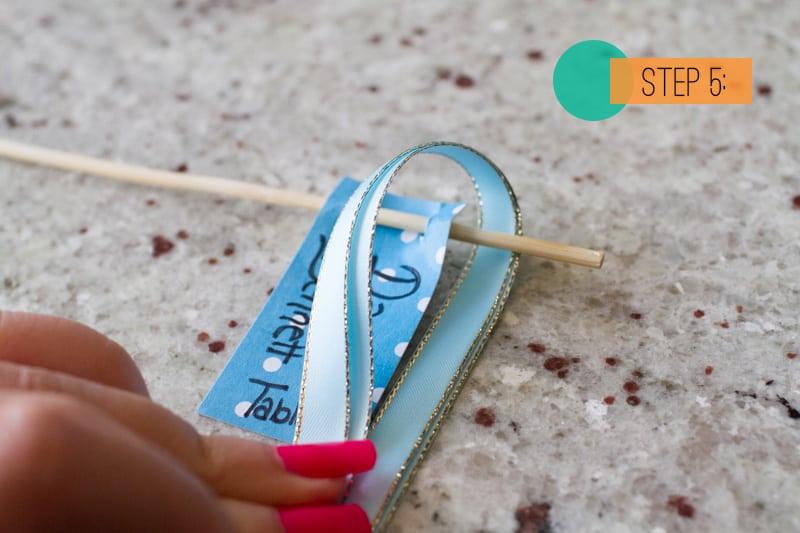 DIY Drink stirrer escort cards5