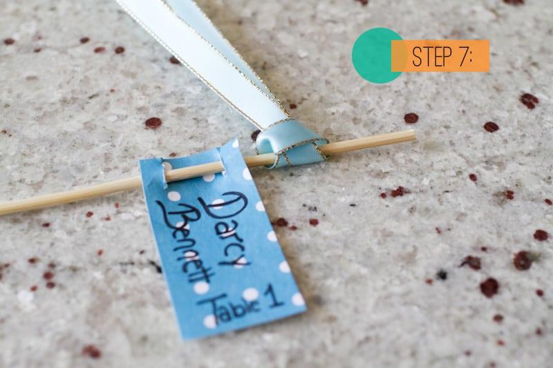 DIY Drink stirrer escort cards7