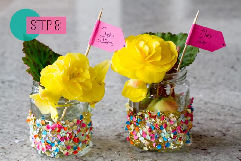 Confetti Jar Place Setting DIY-8