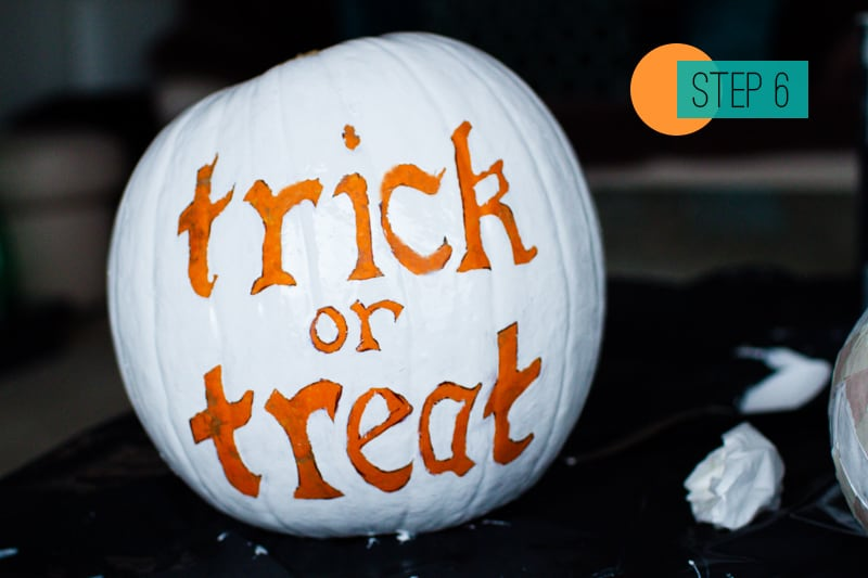 DIY Pumpkin painting home crafts trick or treat decoration 6
