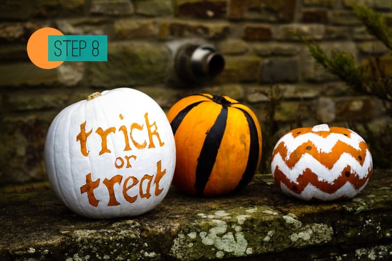 DIY Pumpkin painting home crafts trick or treat decoration 8