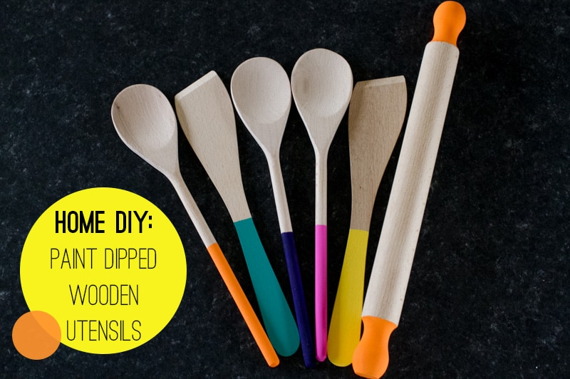 How To Diy Paint Dipped Wooden Spoons Spatulas Amp A