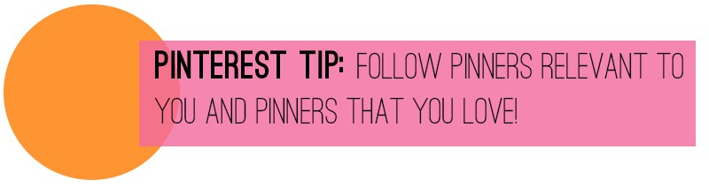 Pinterest Tip Follow pinners