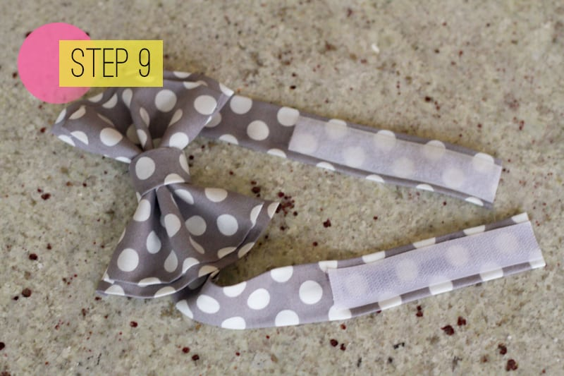DIY How To Make A Bow Tie Polka dot Wedding DIY-9