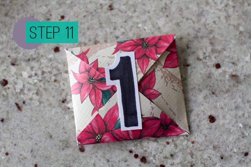 DIY How To Make A Christmas Advent Calendar with Envelopes-13
