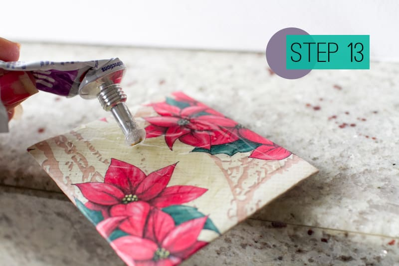DIY How To Make A Christmas Advent Calendar with Envelopes-15