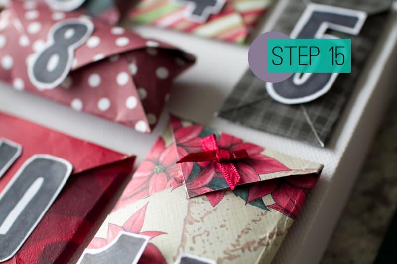 DIY How To Make A Christmas Advent Calendar with Envelopes-17