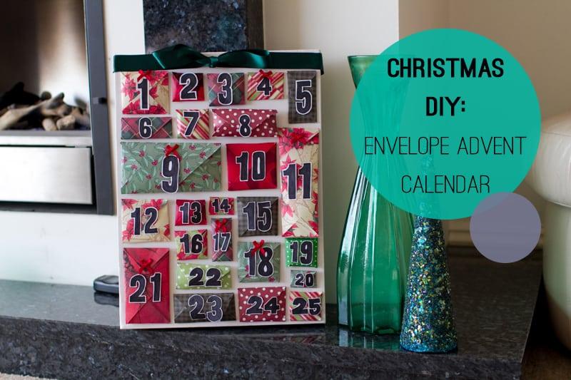 DIY How To Make A Christmas Advent Calendar with Envelopes Main