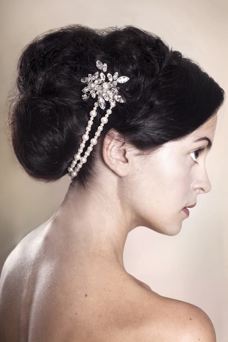 Brooke Wedding Hair Comb Modelled 200 www rosiewillettdesigns co uk (2)