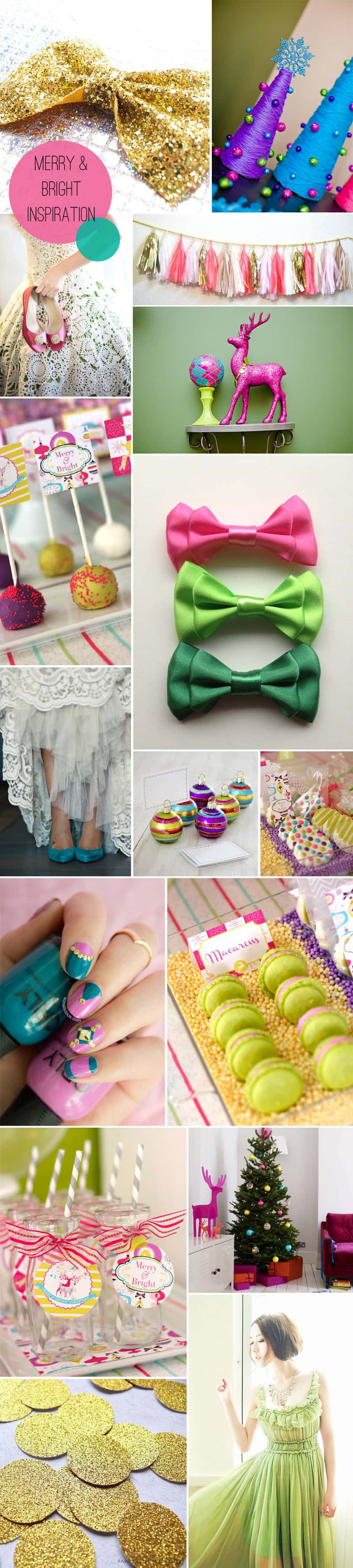 Merry and Bright Christmas Inspiration Board