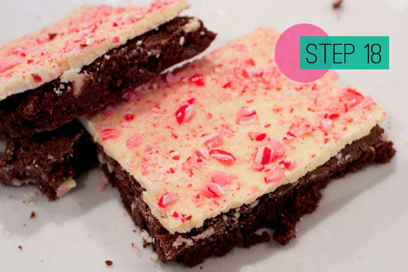 Peppermint Candy Cane Chocolate Brownies-18