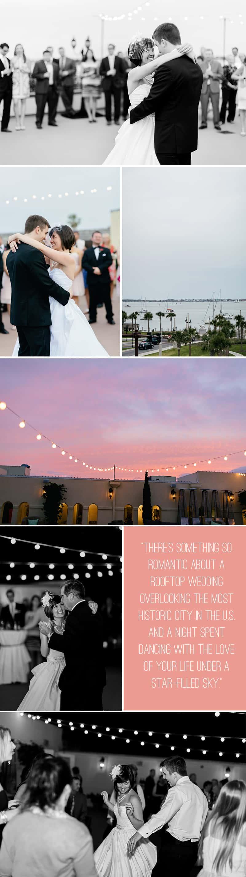 Black White Chevron Pink Wedding Florida Rooftop Wedding7