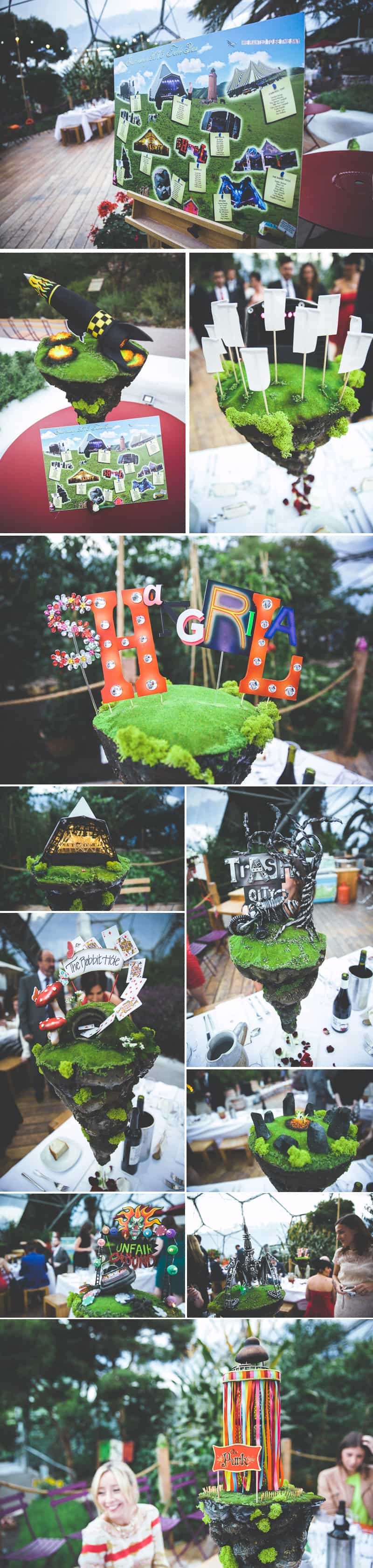 Glastonbury Eden Project Wedding Zip Lining Festival Themed 5