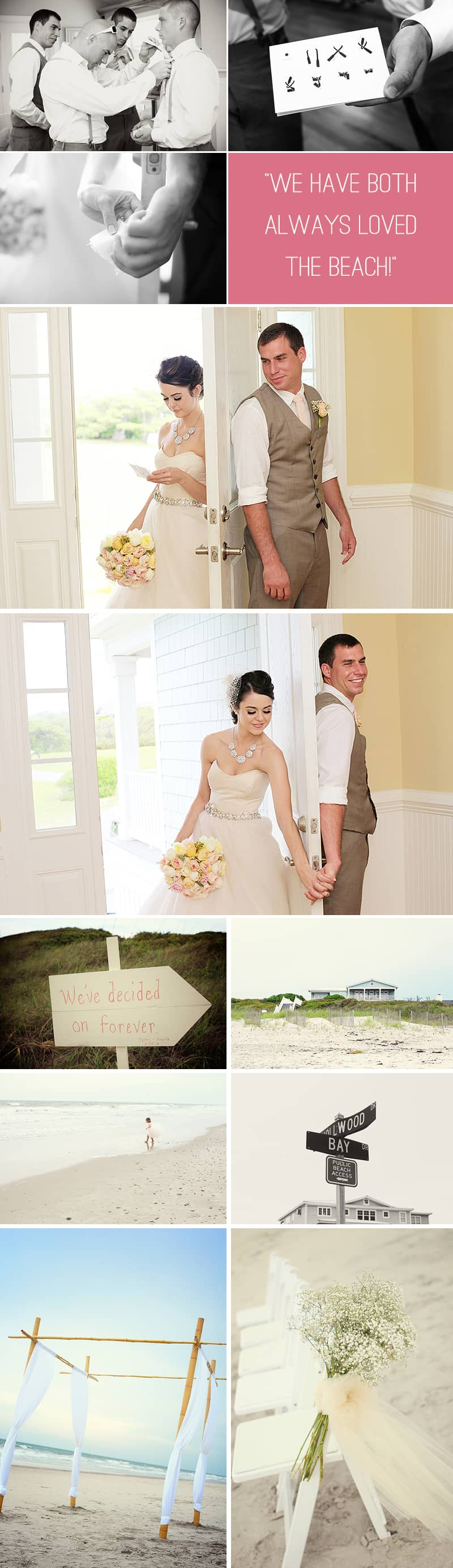 Intimate Beach Wedding First Look
