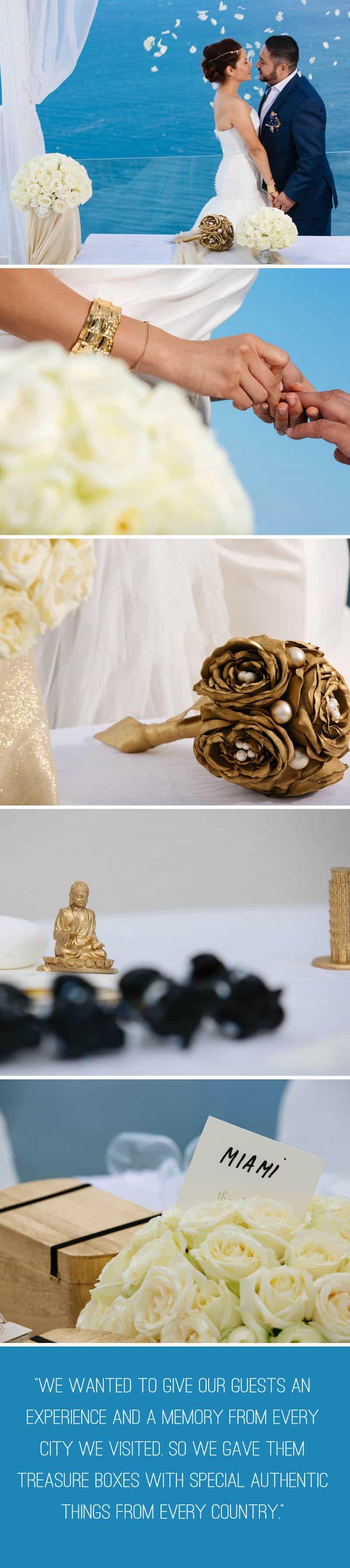 A Travel Themed Destination Wedding in Santorini 4