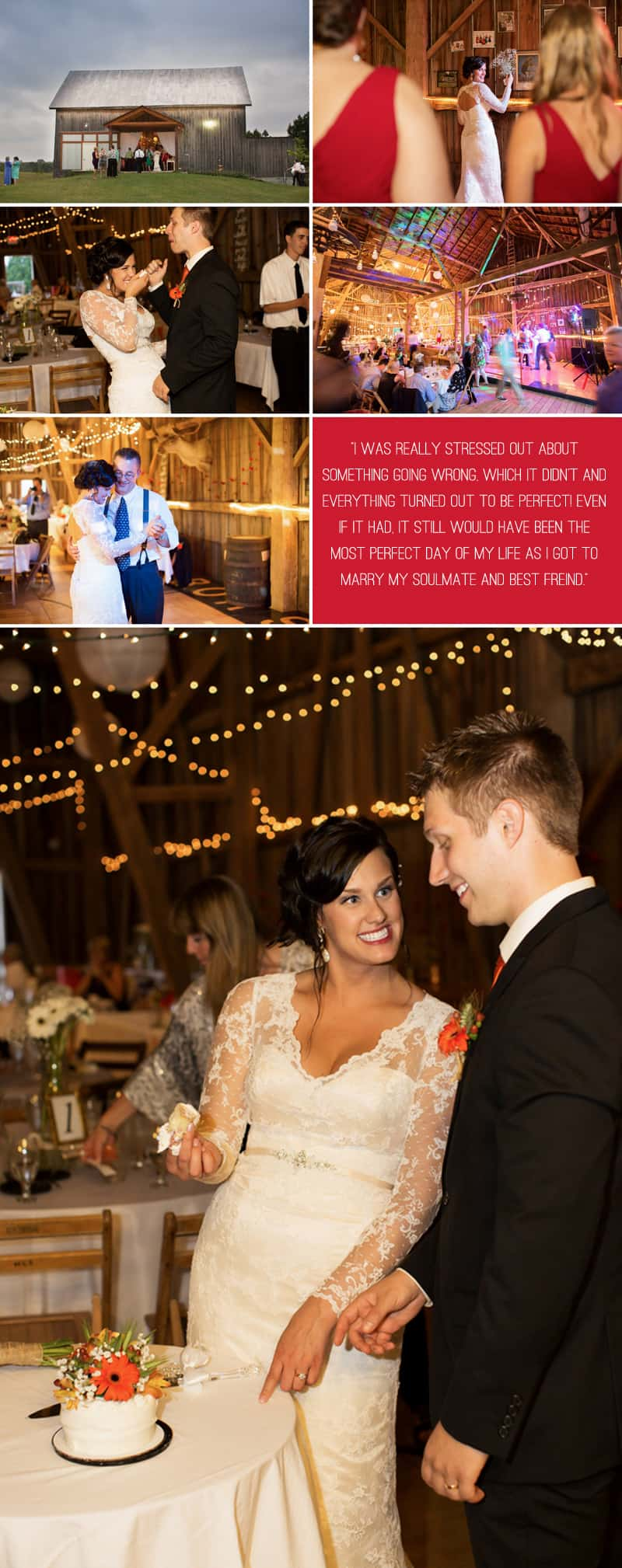 A Romantic Fall Wedding in a Rustic Barn 8