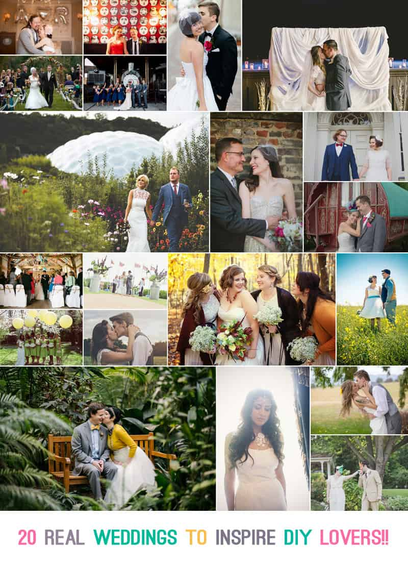 20 real weddings to inspire DIY lovers collage