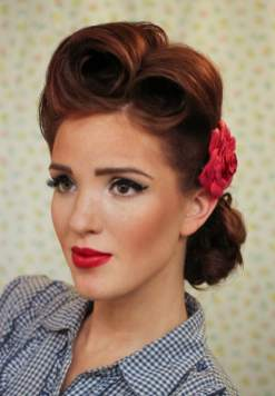 Pin up victory rolls