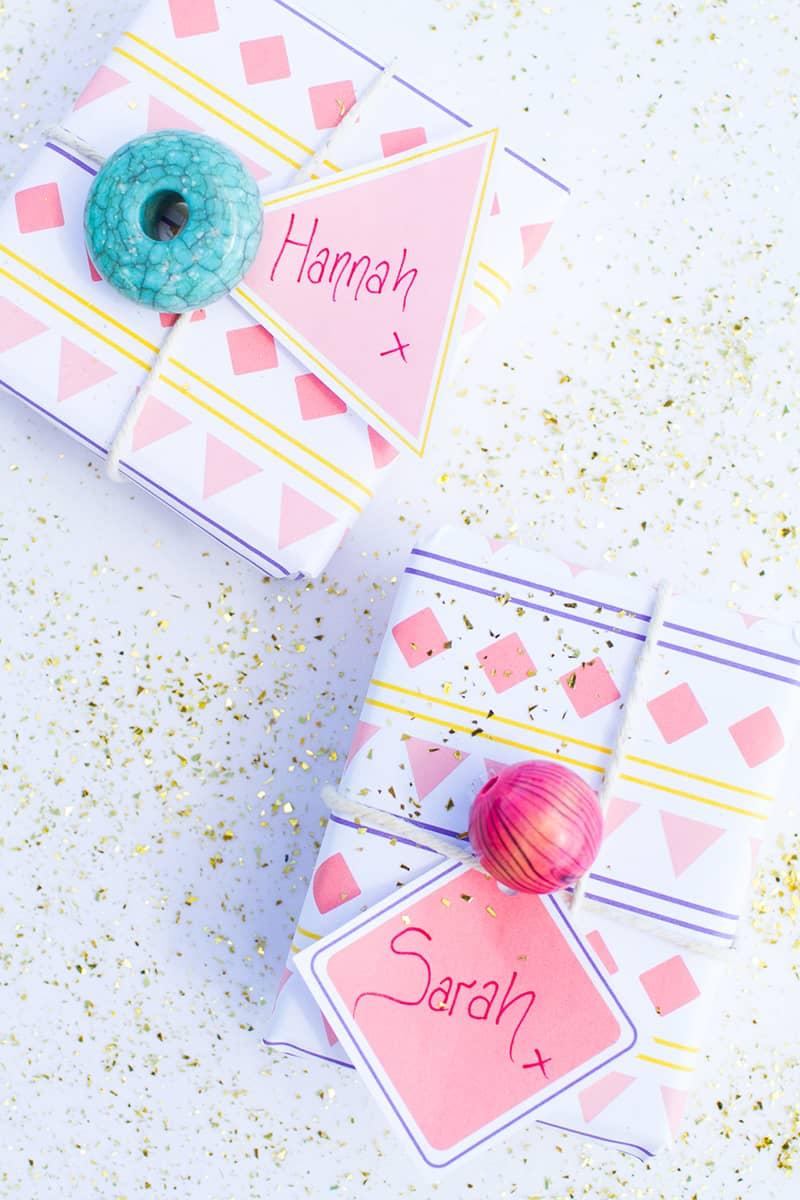 Aztec Wrapping Paper Tags Main DIY Wedding Blog