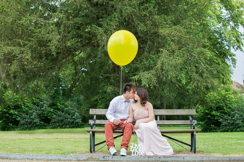 Cute Quirky Engagement Shoot Valentines Park-31