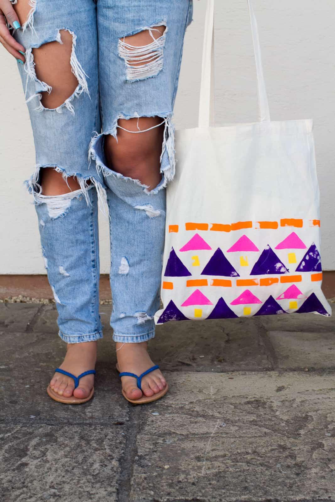 DIY Aztec Tote Bags