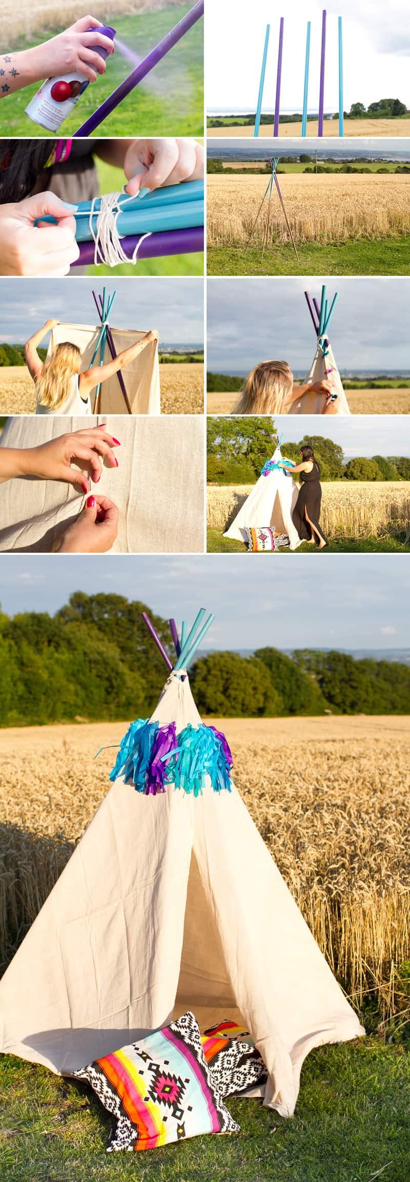 DIY Mini Tipi How to make teepee collage