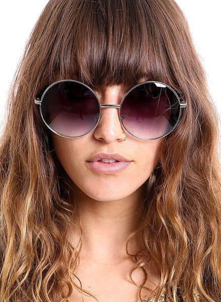 Large oversized round sunglasses