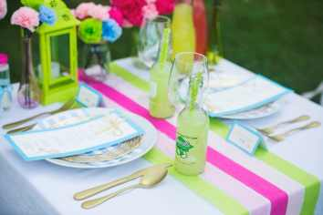 Neon Paper DIY Styled Shoot Paper Craft Wedding Inspiration 3
