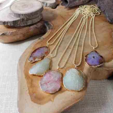 Pastel Agate Stone Necklace