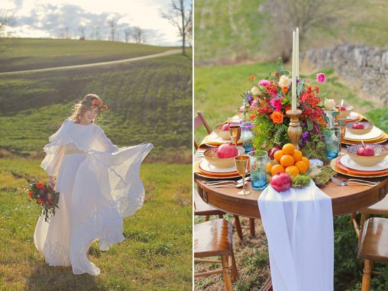 Bohemain Inspired wedding style