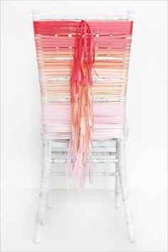 DIY Wedding Chair Decor