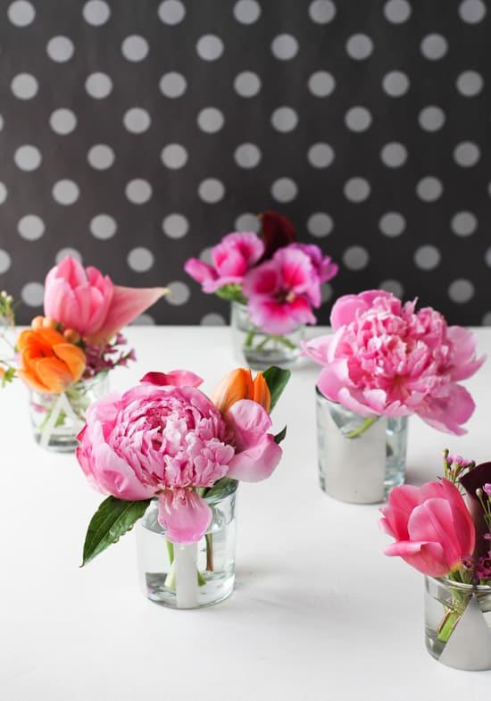 Mini Mirrored DIY Vases