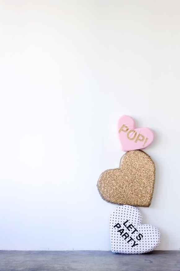 Plush Conversation Heart DIY Pillows