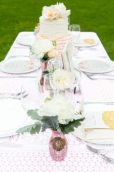 Romantic Blush Pink Styled Shoot Blushing Bride peach colour scheme 8