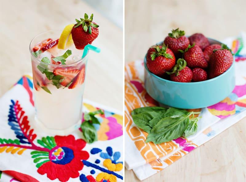 Strawberry Basil Lemonade Cocktail Recipe