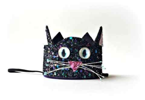 Kitty cat glitter crown