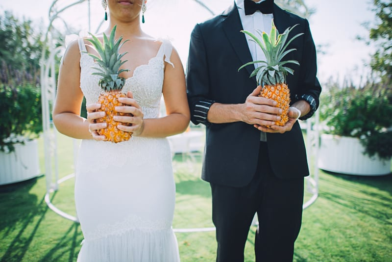 Pineapple Styled Summer Wedding Inspiration Bridal Fashion Unique Bride-16