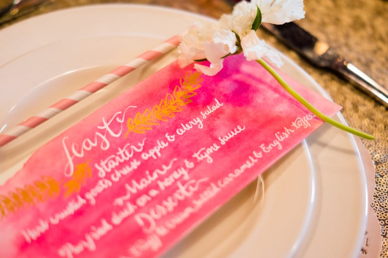 Pink, Glitter & Gold Styled shoot 23