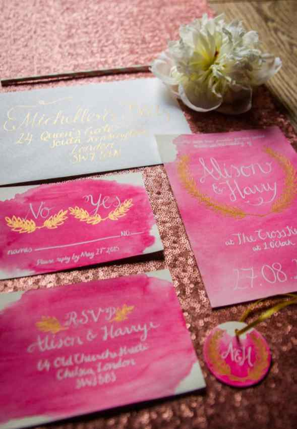 Pink, Glitter & Gold Styled shoot 50