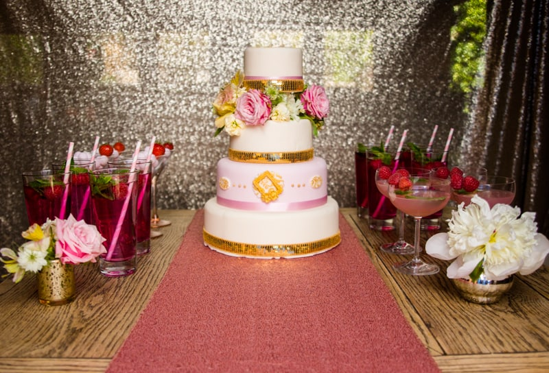 Pink, Glitter & Gold Styled shoot 62