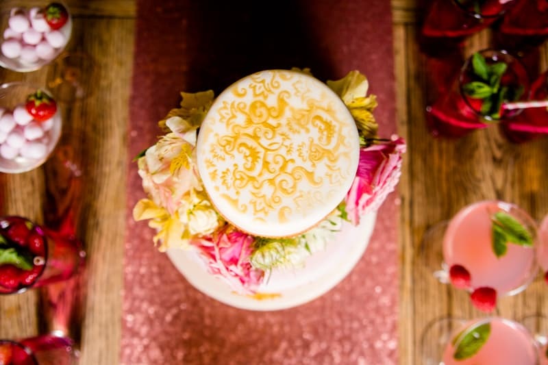 Pink, Glitter & Gold Styled shoot 67