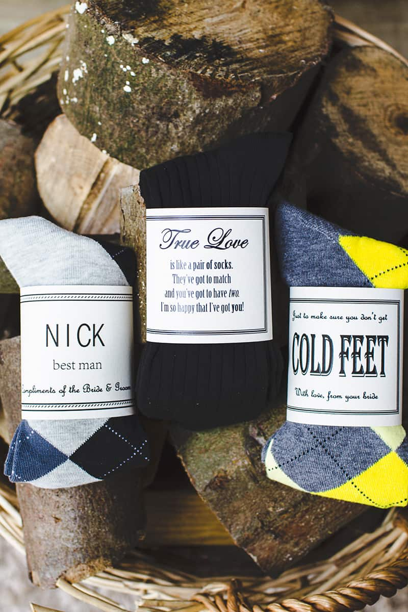 Groomsmen Socks Gifts For Your Groom With Free Printable