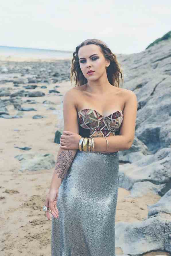 Bohemian Sequin Wedding Inspiration beach festival style 15