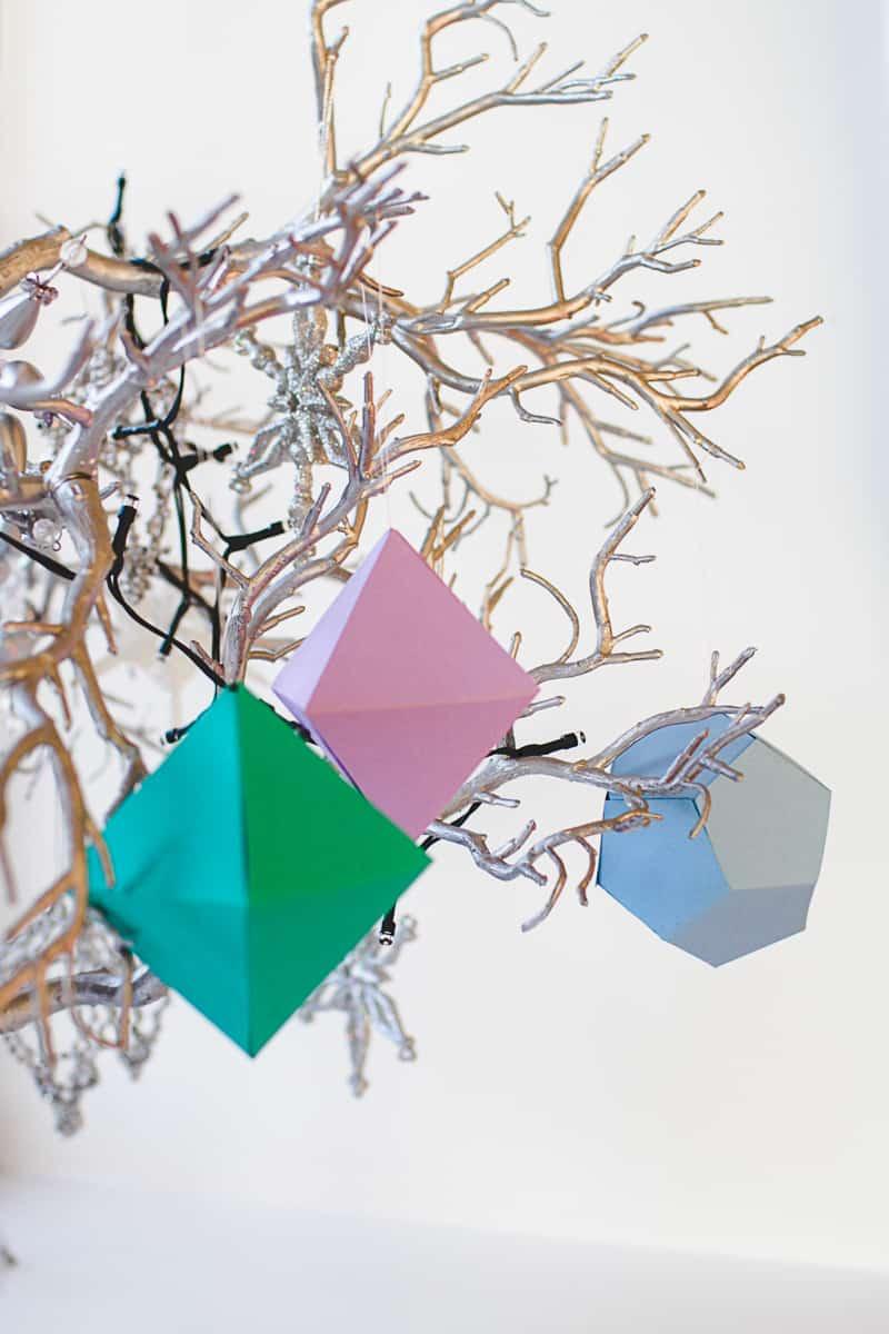 DIY Geometric Christmas Tree Thorntons Chocolate Decorations-6
