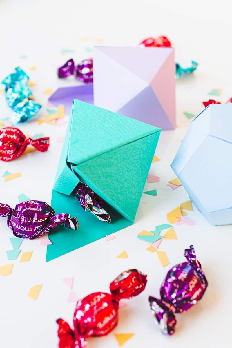 DIY Geometric Christmas Tree Thorntons Chocolate Decorations
