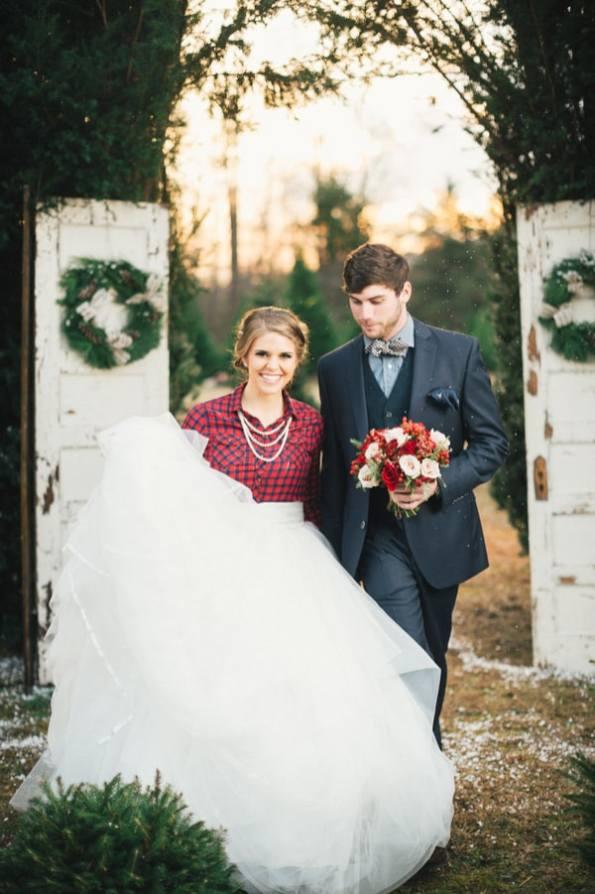Festive Wedding Inspiration on a Christmas Tree Farm 10