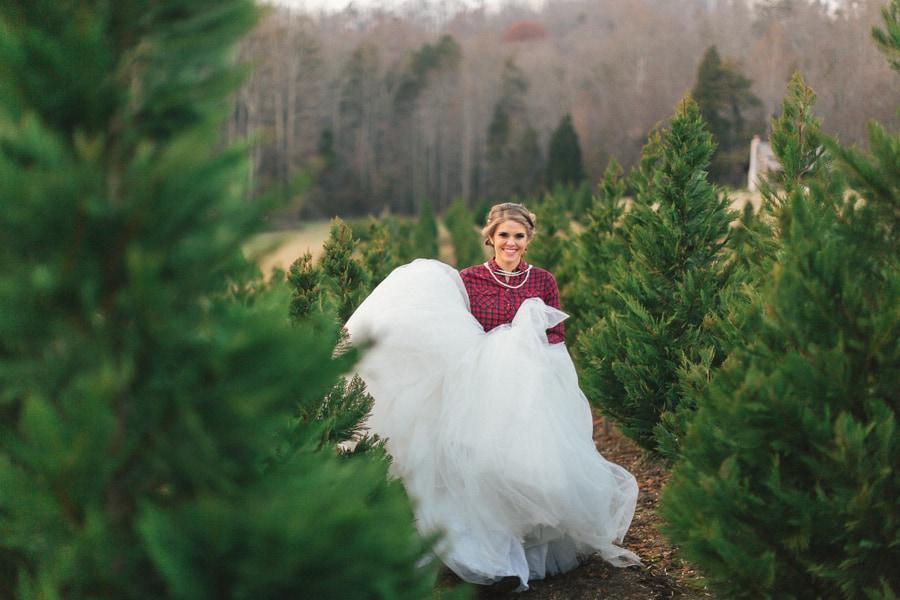 festive wedding inspiration on a christmas tree farm 20 - Bluebird Christmas Tree Farm