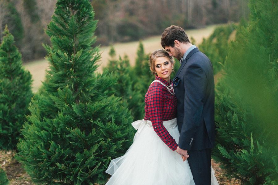 Festive Wedding Inspiration on a Christmas Tree Farm 23
